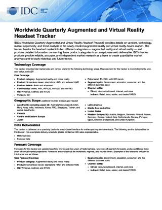 Анализ рынка устройств виртуальной и дополненной реальности