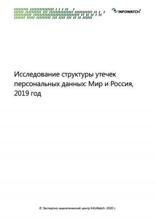 Исследование структуры утечек персональных данных мир и Россия, 2019 г